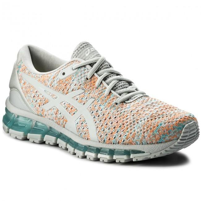 promo code 32e89 c661c Shoes ASICS - Gel-Quantum 360 Knit 2 T890N Glacier Grey/Orange Pop/Aruba  Blue 9609