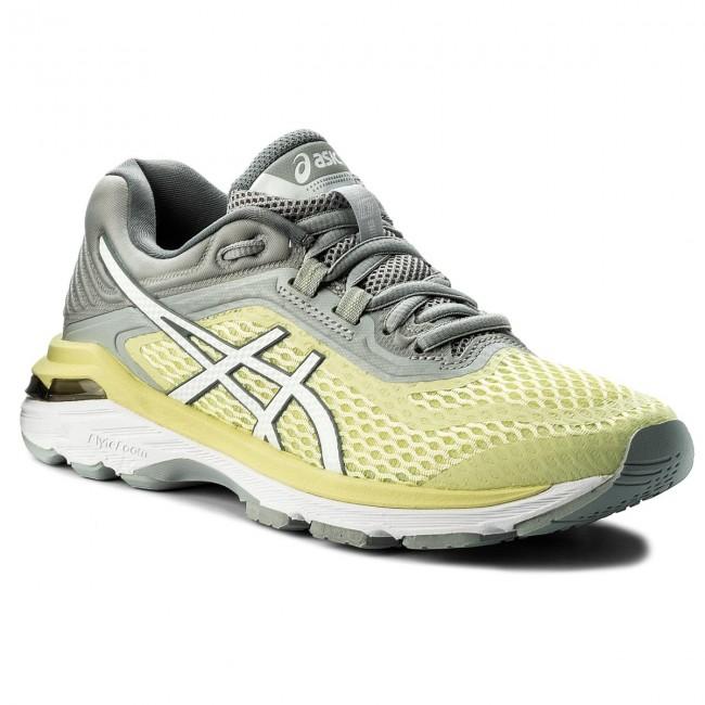 Shoes ASICS GT 2000 6 T855N LimelightWhiteMid Grey 8501
