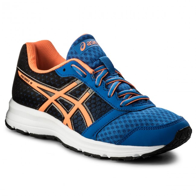 Shoes ASICS Patriot 9 Gs C806N Victoria BlueShocking OrangeBlack 4530