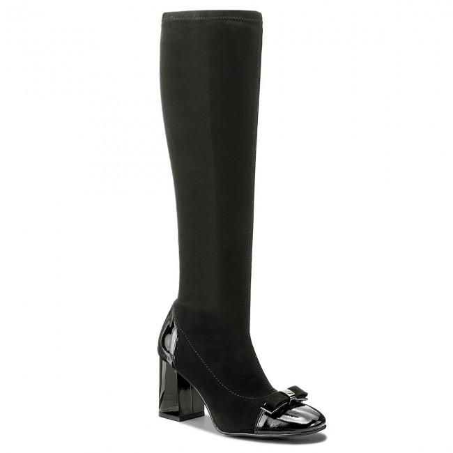 Knee High Boots SAGAN - 3165 Czarny Lakier