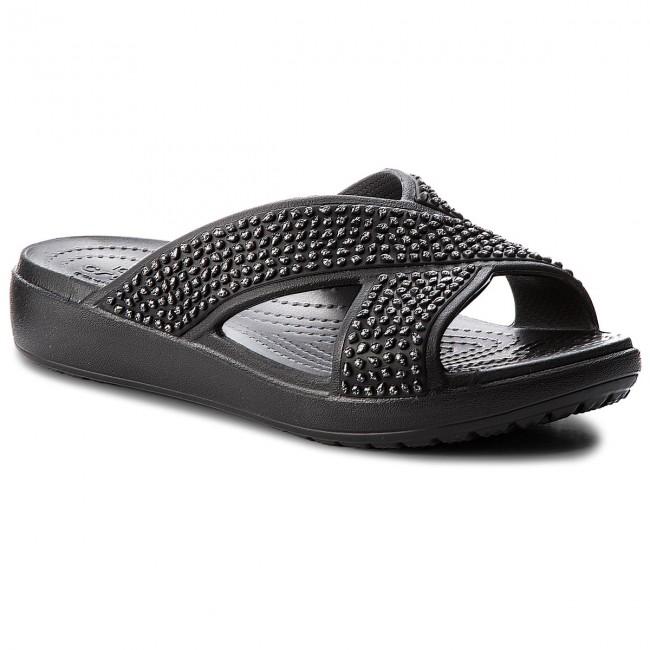 Slides CROCS - Crocsloane Embellished Xstrap 204084 Black/Black