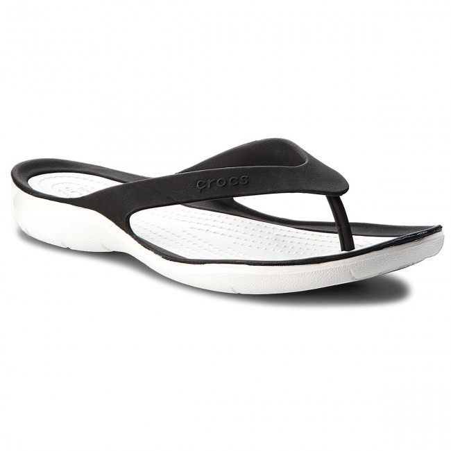 Slides CROCS - Swiftwater Flip W 204974 Black/White