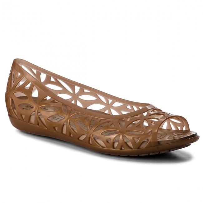 Shoes CROCS - Isabella Jelly II Flat W 204941 Dark Gold/Gold