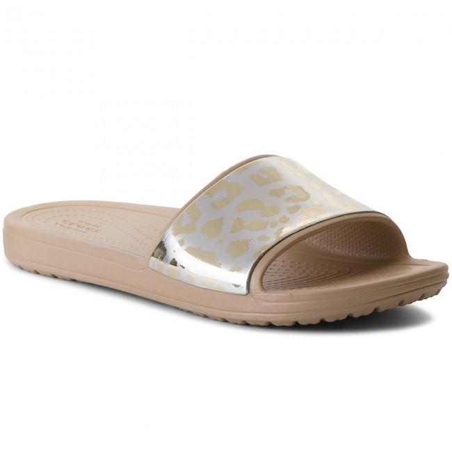 Shoes CROCS - Sloane Grph Metallic Slide W 205133 Gold/Gold