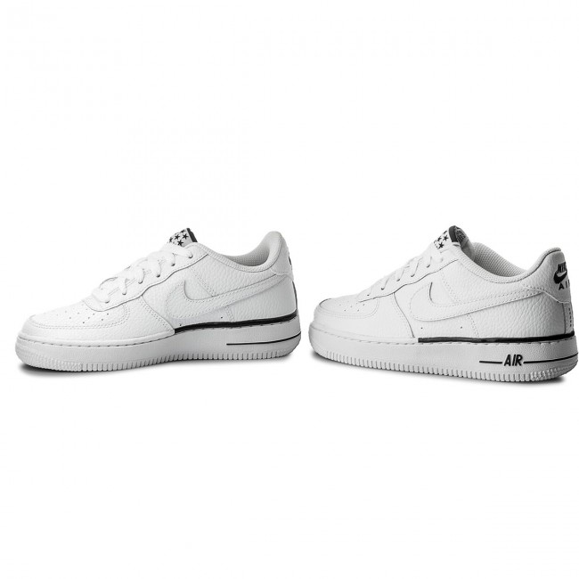 Shoes NIKE Air Force 1 (GS) 596728 103 WhiteWhiteBlack