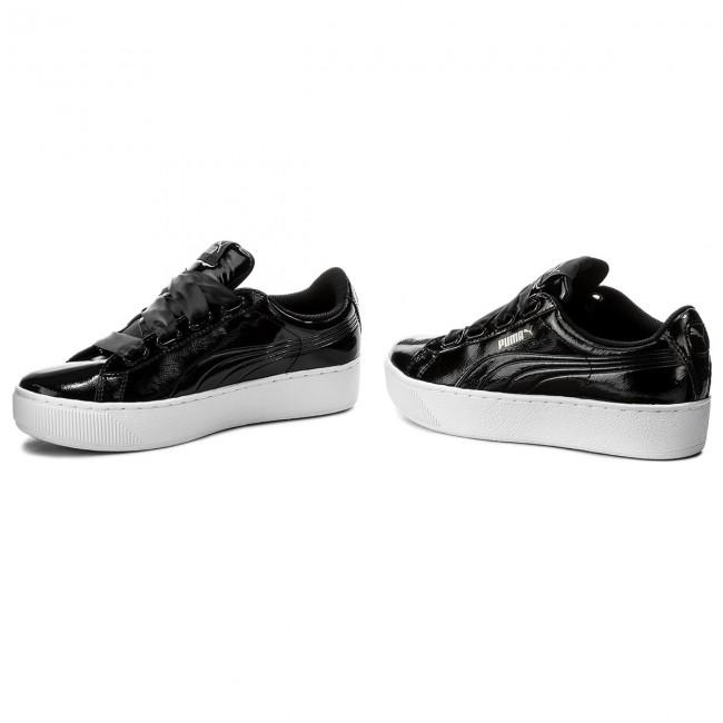 PUMA Vikky Platform Ribbon P Damen Low Boot Sneaker Schwarz