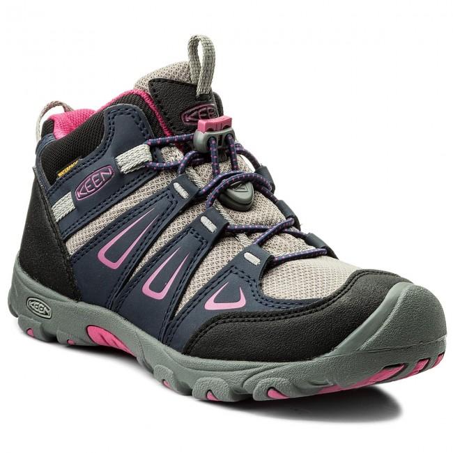 Hiking Boots KEEN - Oakridge Mid Wp 1015180 Dress Blues/Very Berry