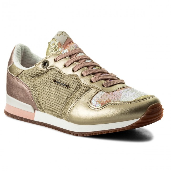 Sneakers PEPE JEANS Gable Sequins PLS30619 Gold 099