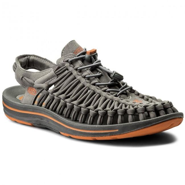 Sandals KEEN - Uneek Flat 1016901 Gargoyle/Burnt Orange