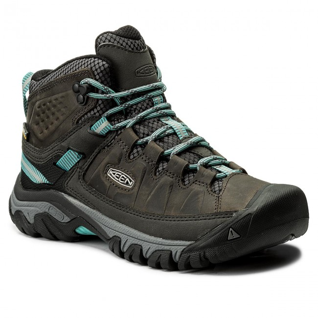 Trekker Boots KEEN - Targhee III Mid Wp 1018159 Alcatraz/Blue Torquioise