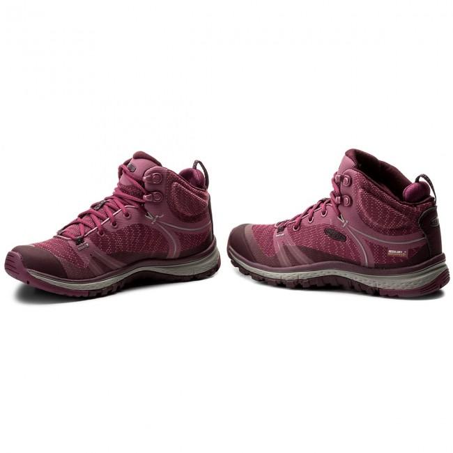 fcfd0161cf6 Trekker Boots KEEN - Terradora Mid Wp 1018524 Boysenberry/Grape Wine