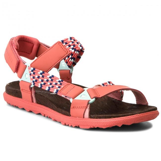 Sandals MERRELL - Around Town Sunvue Woven J94150 Hot Coral