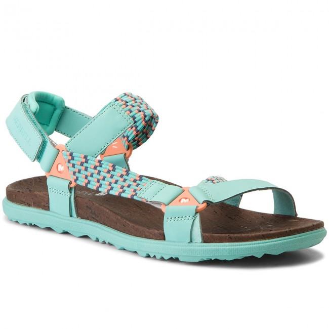 Sandals MERRELL - Around Town Sunvue Woven J94152 Turquoise