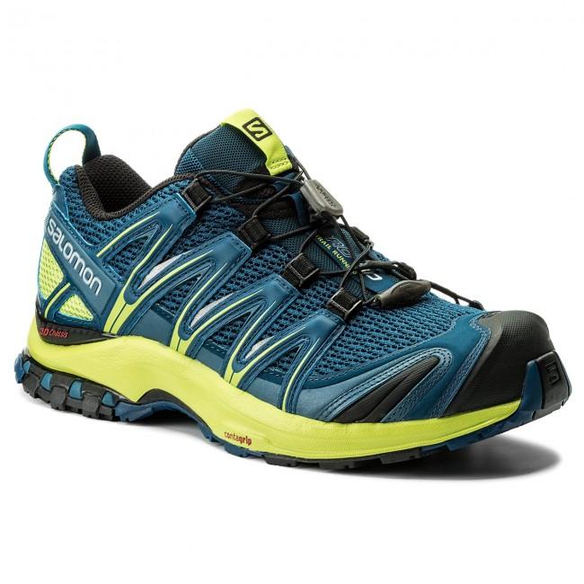 Shoes SALOMON Xa Pro 3D 400798 27 V0 PoseidonLime GreenBlack