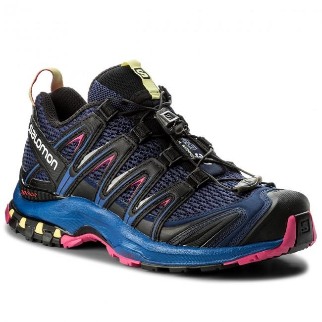 Shoes SALOMON Xa Pro 3D W 400900 20 V0 Medieval BlueSurf The WebPink Yarrow