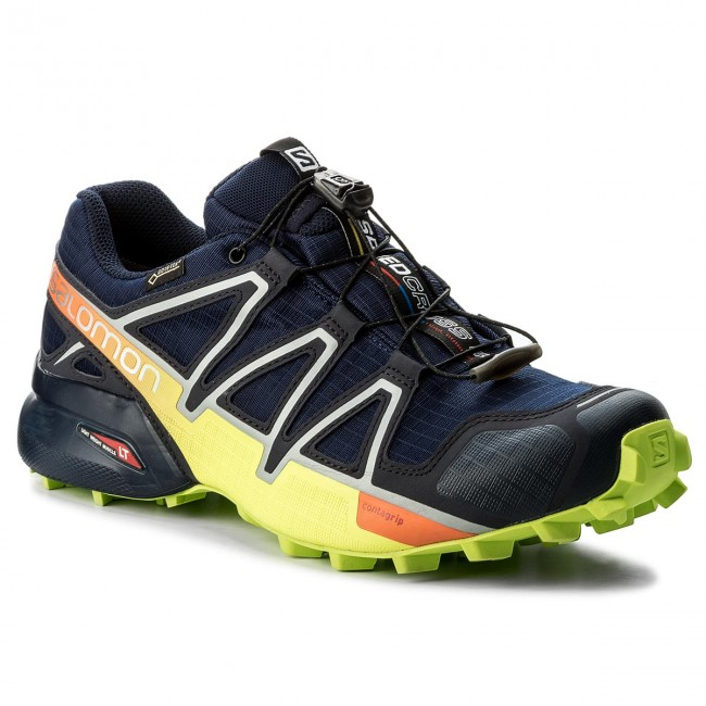 Shoes SALOMON Speedcross 4 Gtx GORE TEX 400938 27 V0 Medieval BlueAcid LimeGraphite