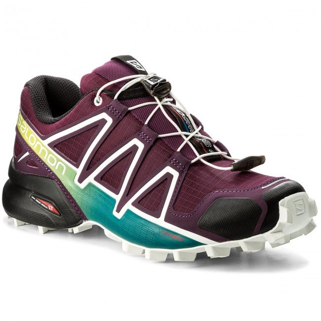 Shoes SALOMON Speedcross 4 W 401361 23 V0 Dark PurpleWhiteDeep Lake