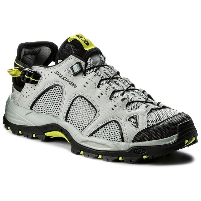 Trekker Boots SALOMON Techamphibian 3 401596 29 M0 QuarryBlackAcid Lime