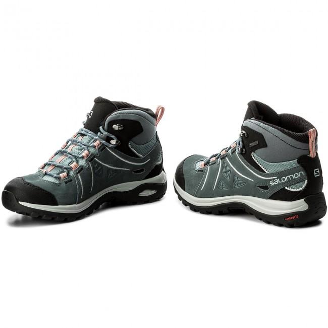 Trekker Boots SALOMON Ellipse 2 Mid Ltr Gtx GORE TEX W 401626 20 V0 LeadStormy WeatherCoral Almond