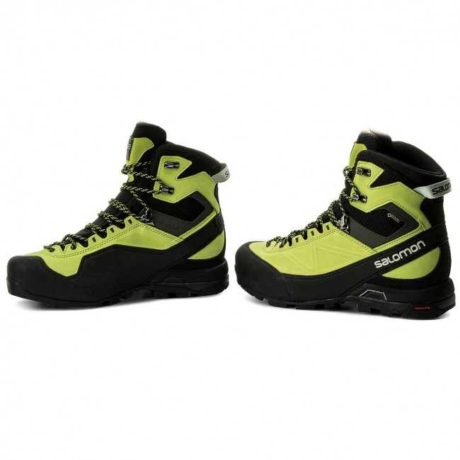 Trekker Boots SALOMON X Alp Mtn Gtx GORE TEX 401651 27 G0 BlackLime GreenBeluga