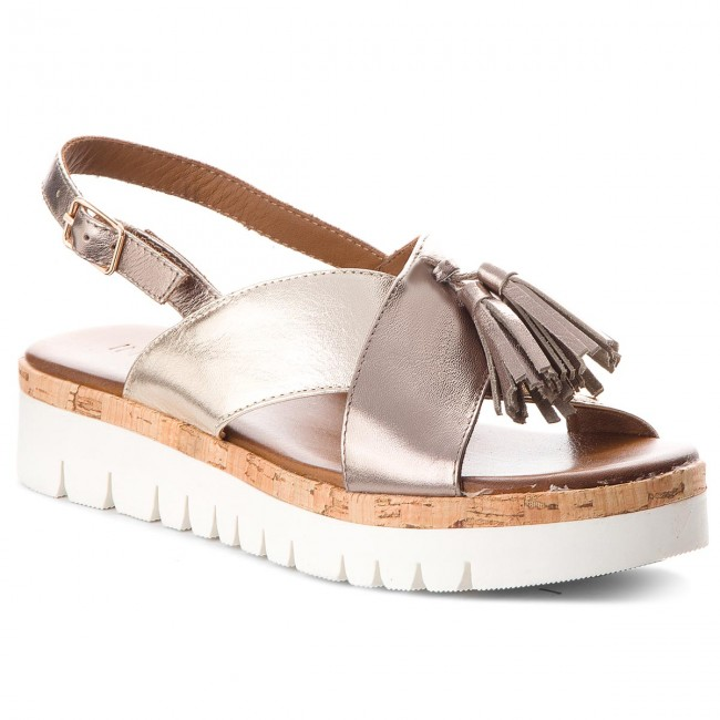 Sandals INUOVO - 8977  Pewter/Gold