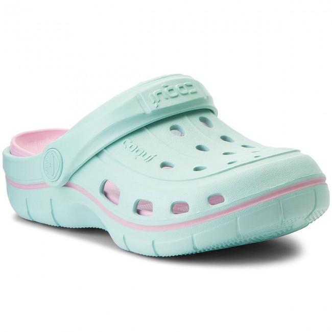 Slides COQUI - Jumper 6353 Lt Mint/Pink