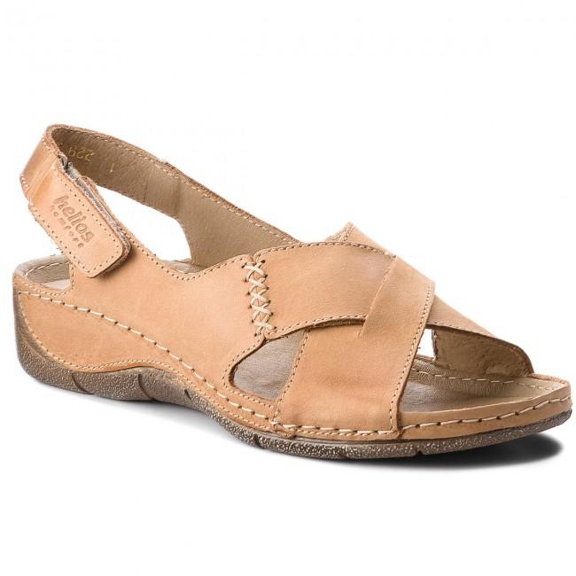Sandals HELIOS - 229-1 Jasny Brąz