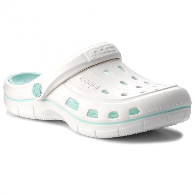 Slides COQUI - Jumper 6352 White/Lt. Mint
