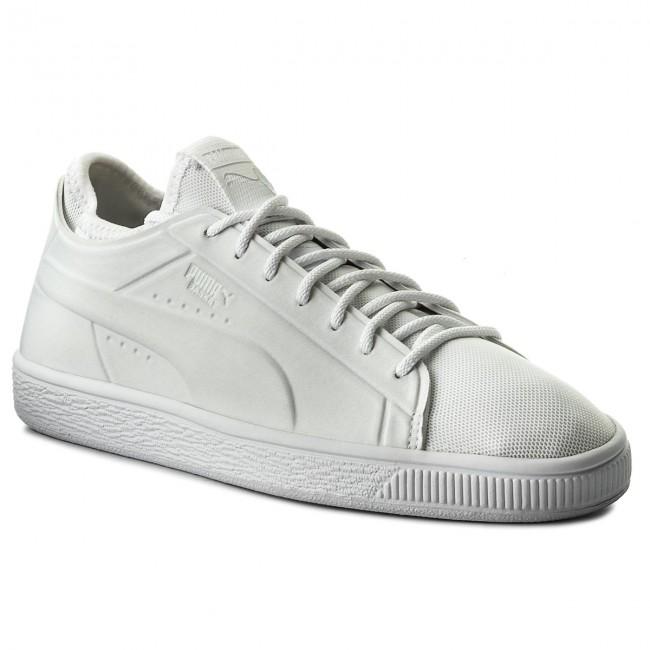 best service a1732 516f7 Sneakers PUMA - Basket Classic Sock Lo 365370 02 Puma Wht/Puma Wht/Puma Wht