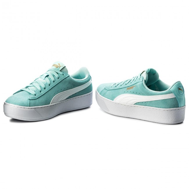 Puma Vikky Platform Sneakers Women Turquoise, Gold