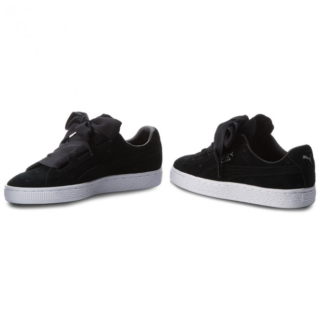 los angeles 20af4 ad139 Sneakers PUMA - Suede Heart Valentine Jr 365135 02 Puma Black/Puma Black