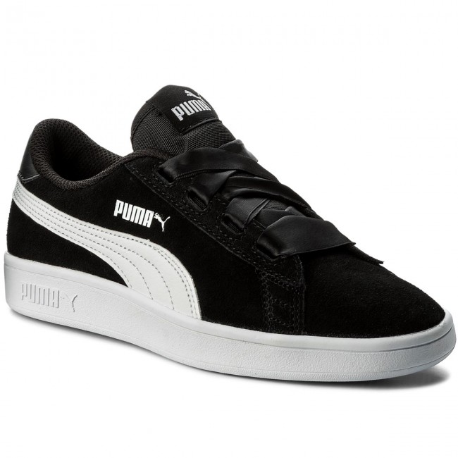 Puma Lifestyle Smash v2 Ribbon Jr Sneaker schwarz