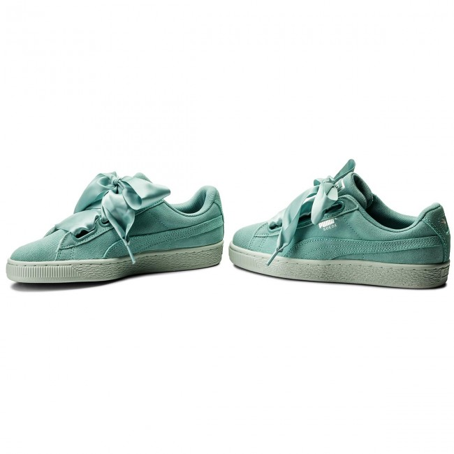brand new c6305 e0c6d Sneakers PUMA - Suede Heart Pebble Wn's 365210 03 Aquifer/Blue Flower