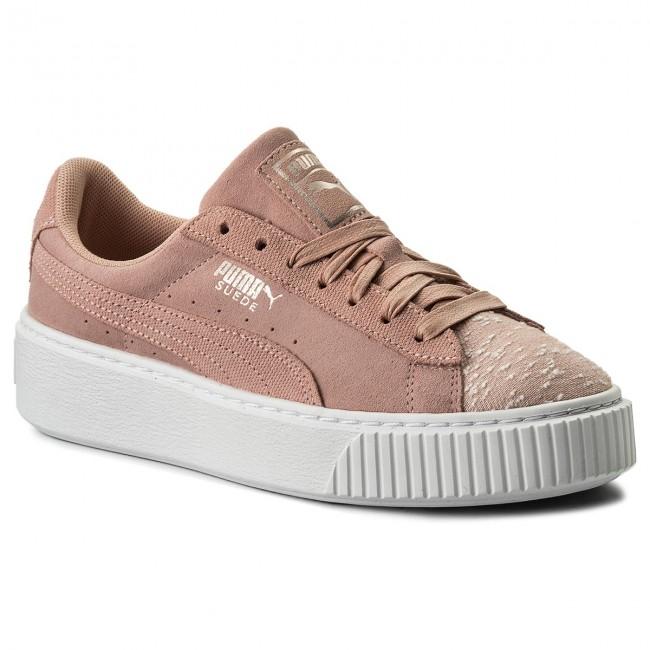 Women's Shoes Sneakers Puma SUEDE PLATFORM PEACH BEIGE PUMA