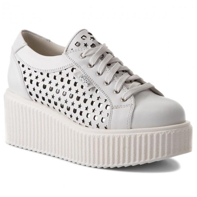 Sneakers KARL LAGERFELD - KL42415 White Lthr