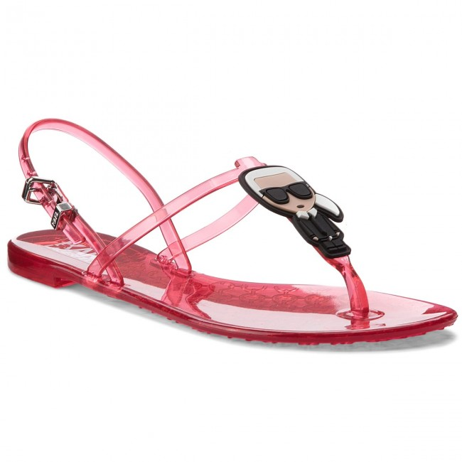 Sandals KARL LAGERFELD - KL80002 Hot Pink Rubber