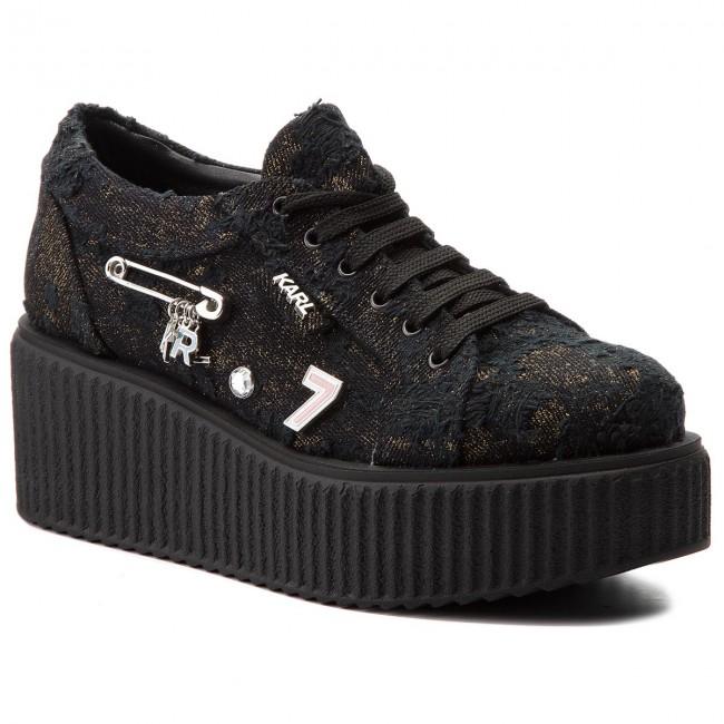Shoes KARL LAGERFELD - KL42412 Black Denim W/Silver