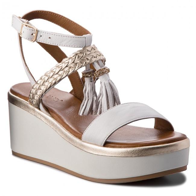 Sandals INUOVO - 8692 White/Gold