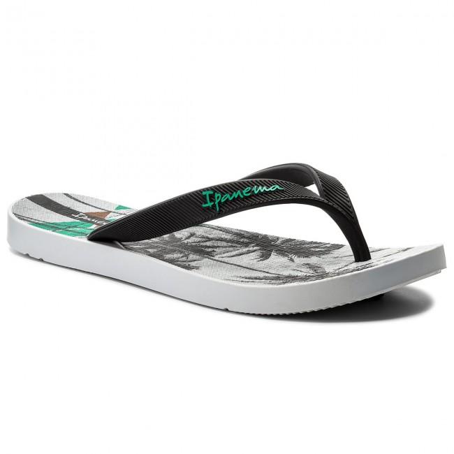 5fd2b0f8637 Slides IPANEMA - Arpoador Temas II Ad 82300 White/Black 21364 - Flip ...