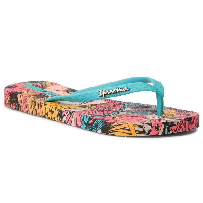 Slides IPANEMA - Tropical Beauty Fem 82458 Blue/Pink 24045