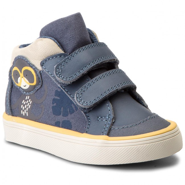 Boots CLARKS - Juggle Rio 261316906 Denim Blue Lea