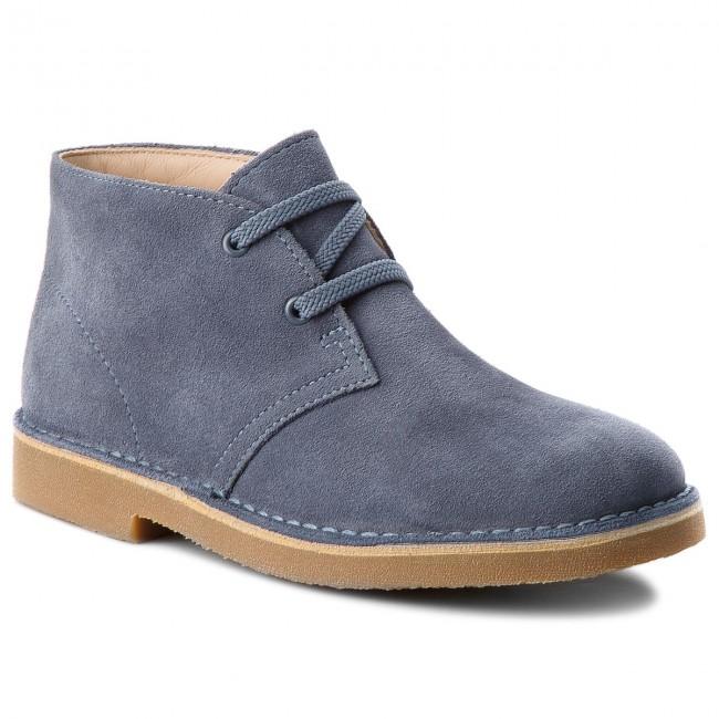 Boots CLARKS - Desert Boot 261338697 Denim Blue Suede