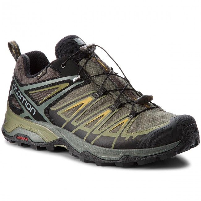 Trekker Boots SALOMON X Ultra 3 Gtx GORE TEX 402422 31 W0 Castor GrayBelugaGreen Sulphur
