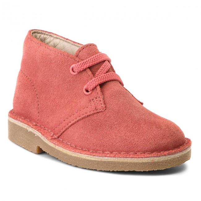 Boots CLARKS - Desert Boot 261341487 Coral Suede