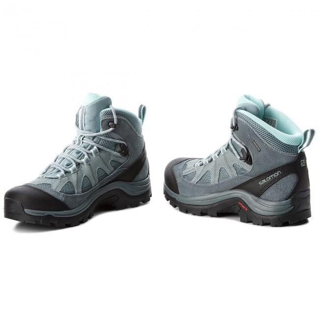 Trekker Boots SALOMON Authentic Ltr Gtx W GORE TEX 404644 21 V0 LeadStormy WeatherEggshell Blue