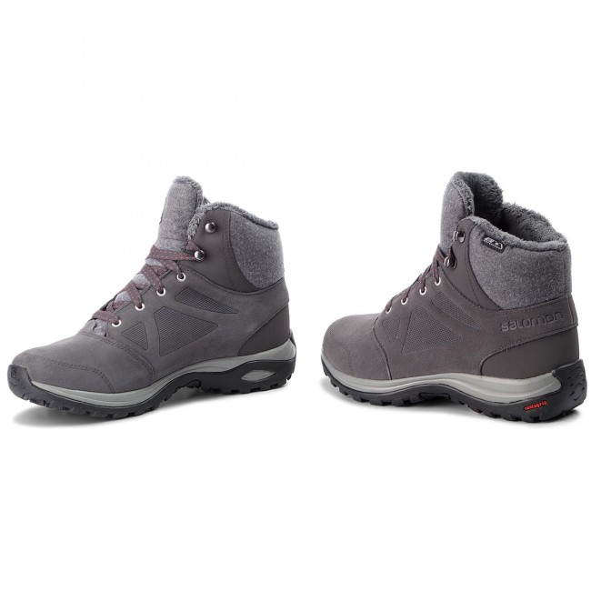 Trekker Boots SALOMON Ellipse Freeze Cs Wp 404697 23 V0 MagnetQuiet Shade Hibiscus