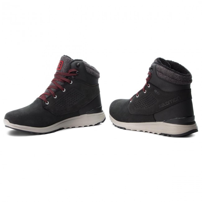 Salomon Utility CS WP Shoes Men blackblackred dahlia at
