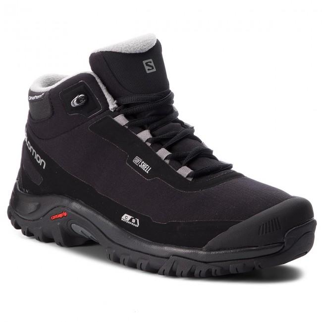 info pour 83a71 563c9 Trekker Boots SALOMON - Shelter Cs Wp 404729 27 V0 Black/Black/Frost Gray