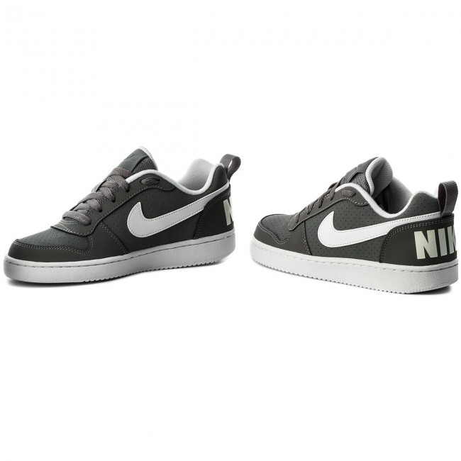 Shoes NIKE , Court Borough Low (GS) 839985 002 Cool Grey/White