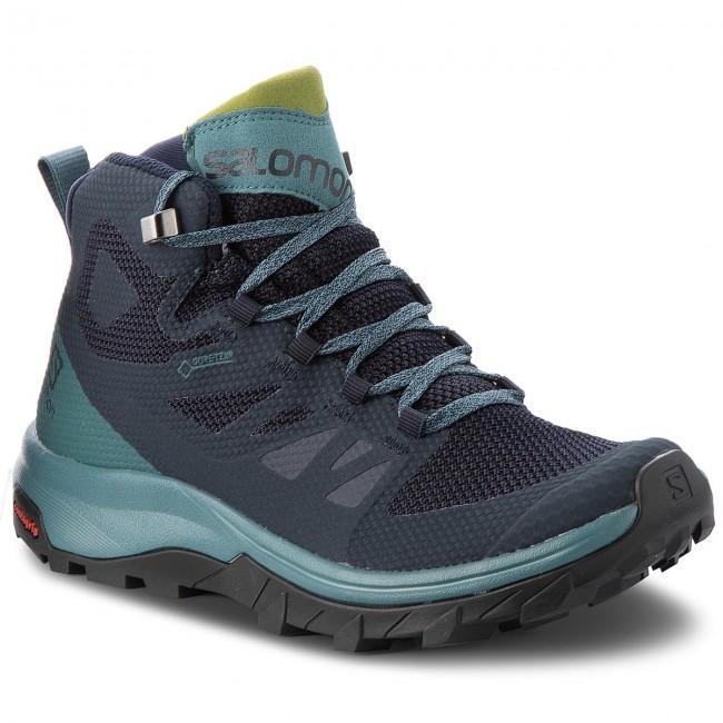 Trekker Boots SALOMON Outline Mid Gtx W GORE TEX 404846 21 V0 Navy BlazerHydroGuacamole
